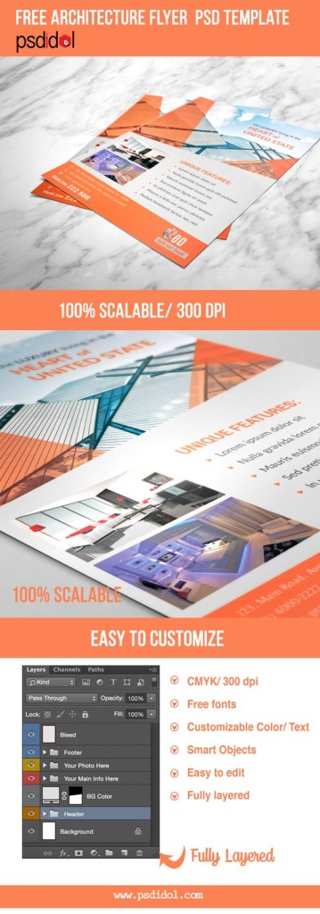 Free Psd Templates Download Architecture Flyer