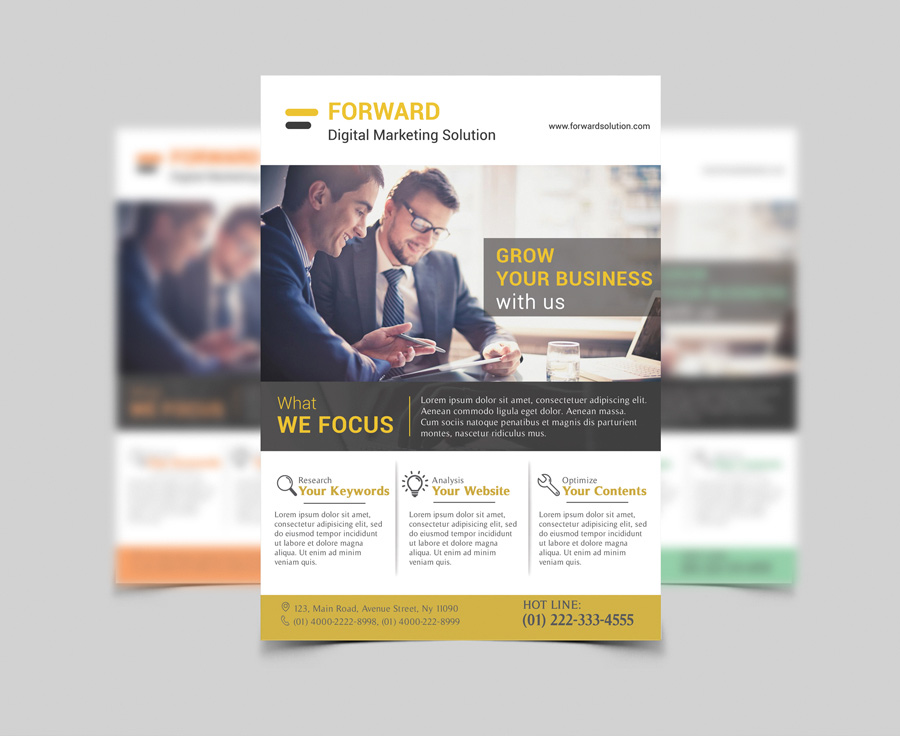Free PSD Templates Download – Professional Corporate Flyer
